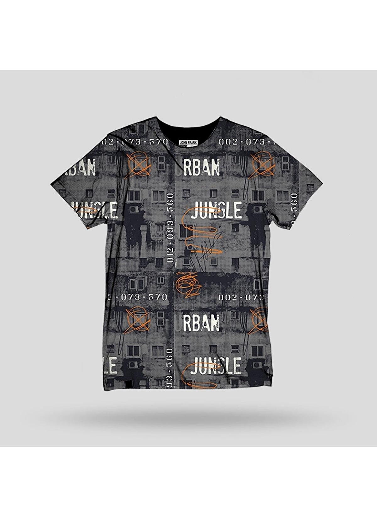 John Frank Tişört Jftd16-urban Baskılı Dijital T-shirt – 79.99 TL